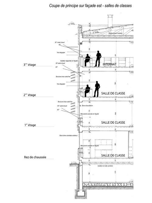 Réfection des façades du lycée Victor Hugo /// Valence