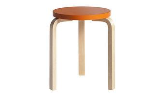 Orange Artek Aalto Stool 60 Anniversary Edition