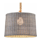 Rattan lampshade Pendant lamp Rotin one-bulb