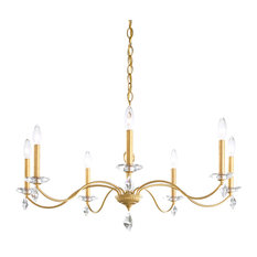 Modique 7-Light Chandelier in Heirloom Gold With Clear Heritage Crystal