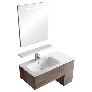 Sirio Tobacco Wall-Mounted Bathroom Vanity Unit Set, 97 cm