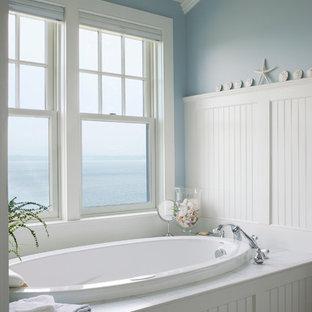 Example of a coastal home design design