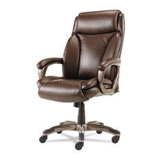 Veon Series Executive High-Back Leather Chair, With Spring Cushioning, Brown
