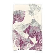 Fall Memories Floral Print Hand Towel, Purple