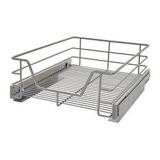 Premium Kitchen Pull-Out Storage Basket, 29 cm