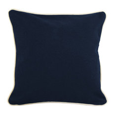 "12""x12"" Pillow With Green Eco Friendly Insert, Navy"