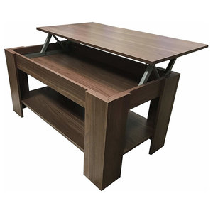Modern Coffee Table in MDF With Lift Up Top and Bottom Shelf for Extra Storage