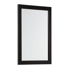 Chelsea Framed Bathroom Wall Mirror, Black, 55x75 cm