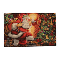Tapestry Festive Christmas Holiday Down The Chimney Placemats, Set Of 4