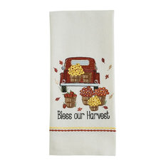 Park Designs - Bless Our Harvest Pick Up Truck Embroidered Kitchen Dish Towel - Dish Towels