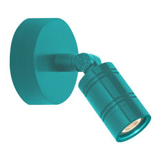 LED Bullet Head Monopoint Wall Sconce, Tahitian Teal