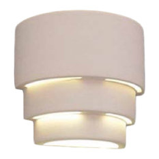 Dara Outdoor Wall Light, Paintable Bisque, Closed Top