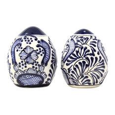 Encantada Handmade Spice Shakers, Blue Flower