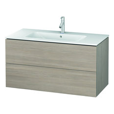 """Duravit L-Cube 40 1/8""""x18 7/8"""" Wall-Mounted Vanity Unit, Pine Silver"""