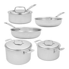 USA Pan 8 Piece Stainless Steel Cookware Set