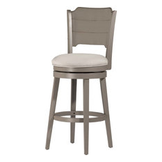 Hillsdale Furniture - Clarion Swivel Counter Stool, Distressed Gray - Bar Stools and Counter Stools