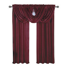 "Soho Faux Silk Waterfall Window Panel, Burgundy, 42""x84"""