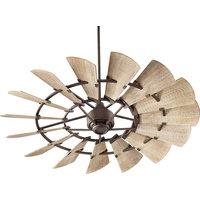 Windmill Transitional Ceiling Fan, Oiled Bronze