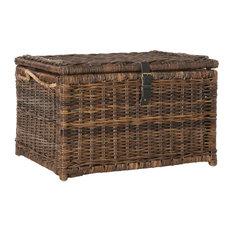 happimess - happimess Caden 30  Wicker Storage Trunk Brown - Decorative Trunks  sc 1 st  Houzz & 50 Most Popular Decorative Trunks for 2018   Houzz