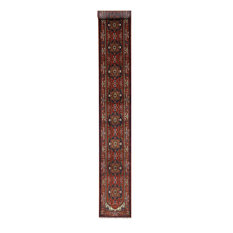 New Red Oriental Runner 3'x20' Heriz Serapi Hand Knotted Wool Area Rug H9214
