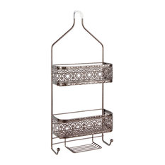 silverwood filigree 2shelf shower caddy with soap holder oil rubbed bronze