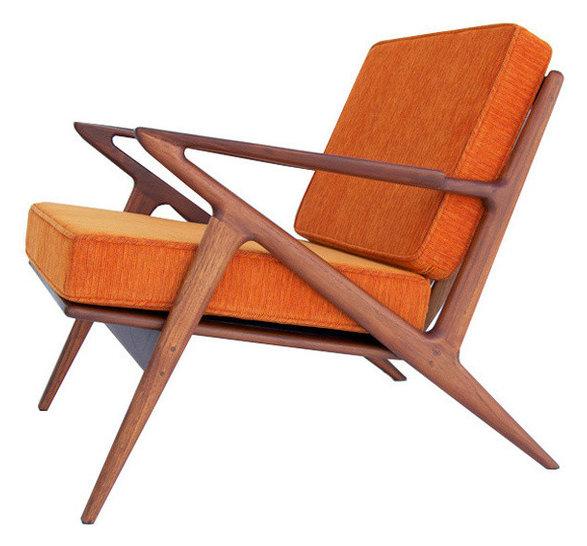 Farlance Armchair, Electric Orange