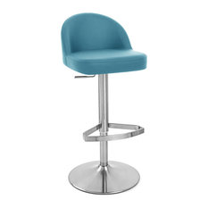 Turquoise bar stools and counter stools houzz - Teal blue bar stools ...