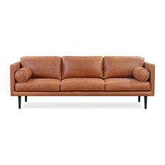 Spectre Leather Sofa Cigar Top Grain Full Aniline