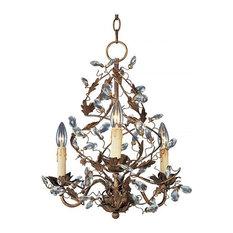 Maxim Lighting 2850EG Elegante 3 Light Mini Chandelier, Etruscan Gold