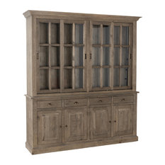 Gerald Reclaimed Pine 4 Drawer Hutch Cabinet by Kosas Home