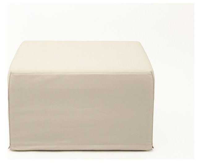 pouf lit convertible design blanc cass - Pouf Lit Convertible