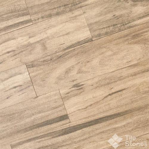 Magique Cottonwood Wood Plank Porcelain Tile - Wall And Floor Tile