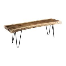 Clara Munggur Wooden Bench With Steel Legs