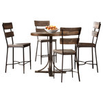Hillsdale Furniture, LLC - Jennings 5 Piece Counter Height Dining Set With Non-Swivel Counter Height Stools - Five piece counter height dining ensemble with a rustic industrial flair