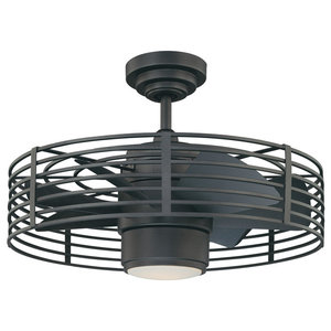 Warm Light 36 Quot Round Led Ceiling Fan With Foldable Blades