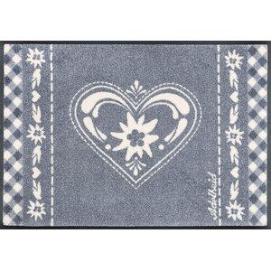 Alpine Heart Door Mat, 75x50 cm