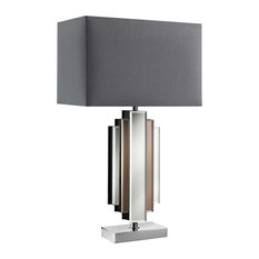 Pagazzi - Harlow Table Lamp Chrome/Grey - Table Lamps