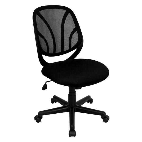 MFO Y-GO Chair??? Mid-Back Black Mesh Computer Task Chair