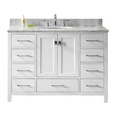 "Caroline Avenue 48"" Single Bathroom Vanity Cabinet Set, White"