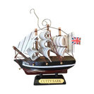 Wooden Cutty Sark Tall Model Clipper Ship Christmas Ornament, 4""