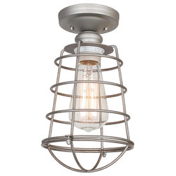 Industrial Flush-mount Ceiling Lighting by Design House