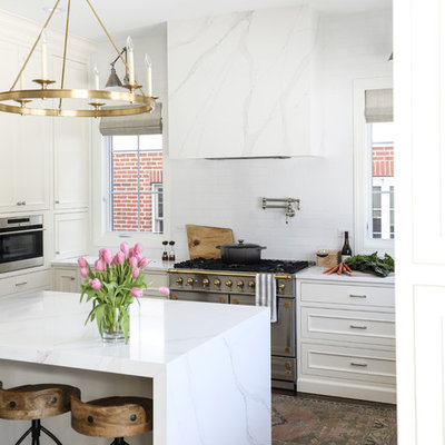 Transitional home design photo in Chicago