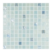 "12.5""x12.5"" Aquamarine 111, 750 Glass Tile"