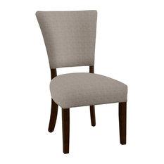 Hekman Woodmark Charlotte Dining Chair, Very Light Black and White