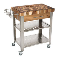 shop stainless steel kitchen cart on houzz, Kitchen design