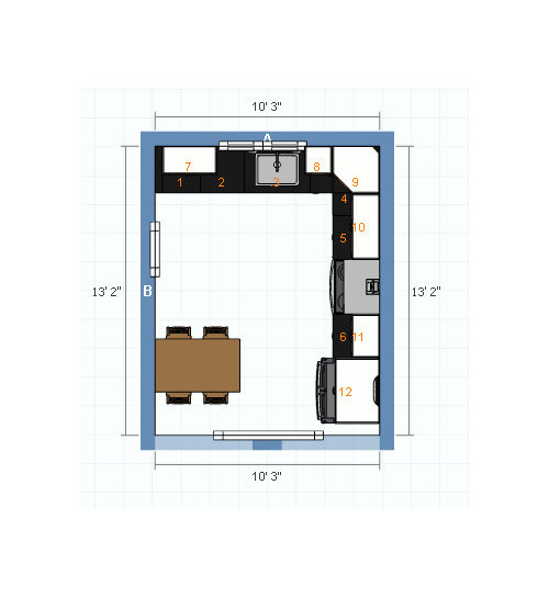 Need Small Eat In Kitchen Layout Help