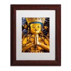 "Philippe Hugonnard 'Shiva' Art, Wood Frame, White Matte, 14""x11"""