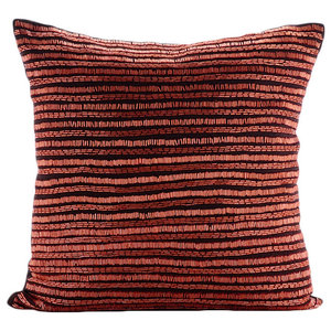 Sparkly Beads 35x35 Linen Brown Decorative Cushion Cover, Revive