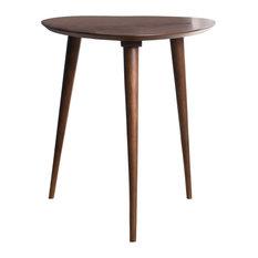 GDF Studio Finnian Wood Finish End Table, Walnut