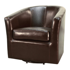 new pacific direct inc hayden swivel bonded leather chair brown armchairs and